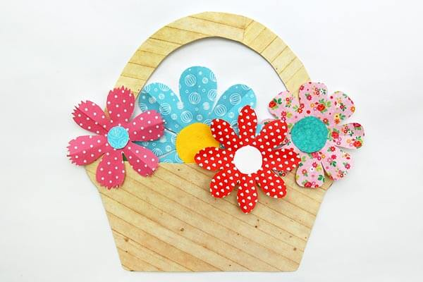 Flower basket crafts Spring Craft Ideas for Kids with Easy Tutorials
