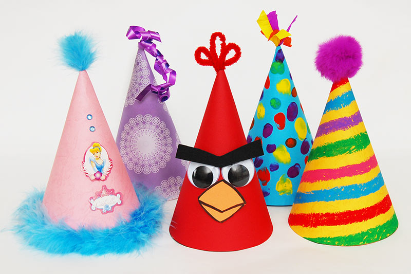 Crafty cone party hats for kids