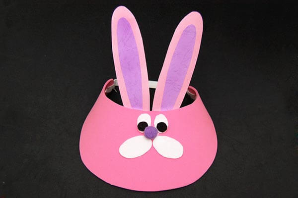 Bunny summer hat Spring Craft Ideas for Kids with Easy Tutorials