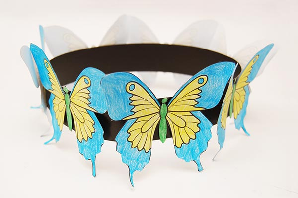 Beautiful Butterfly DIY party hats