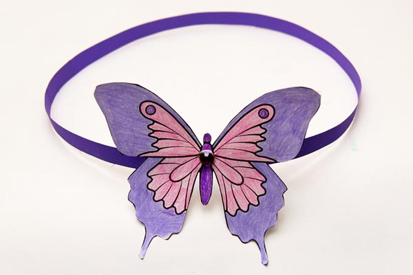 DIY butterfly party crown