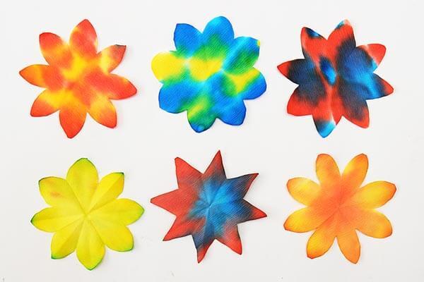 Beautiful coffee filter flowers