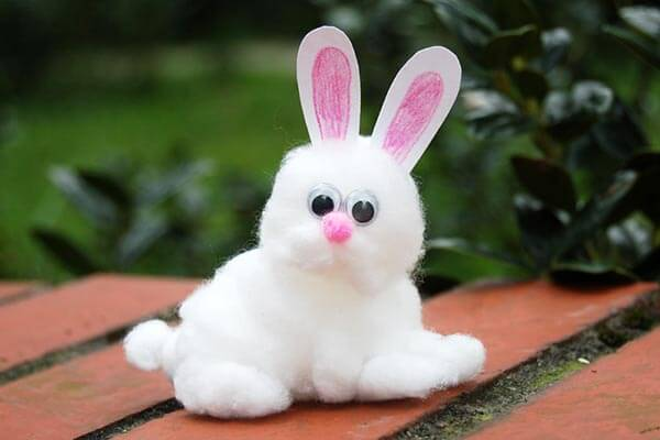 Cotton bunny crafts for 10-year olds