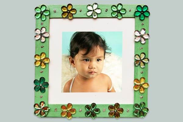 Spring inspired photo frame