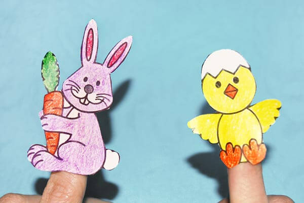 Bunny and the chick crafts for Easter
