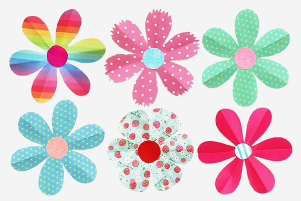 Paper flower crafts for toddlers