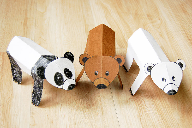 Pandas and bears craft ideas for kids
