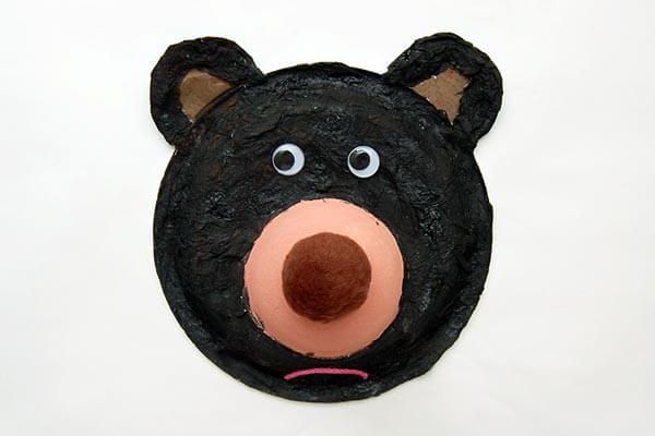 Fuzzy Paper Plate Bear:Craft idea for Preschoolers