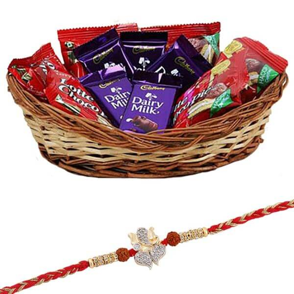Ganesh Rakhi with Chocolates Raksha bandhan Rakhi Gifts for Brother