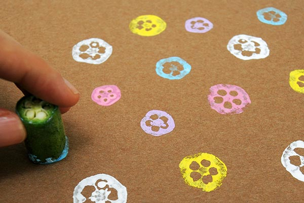 Vegetable print spring craft
