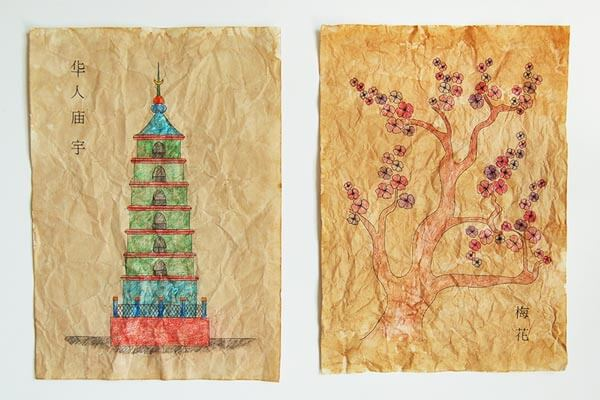 Chinese scrolls spring craft