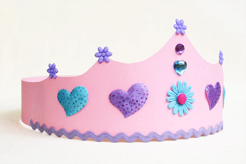 Crown hat for parties for kids