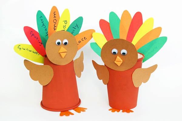 Rainbow Paper Cup Turkey