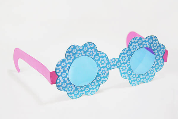 Paper sunglasses spring crafts