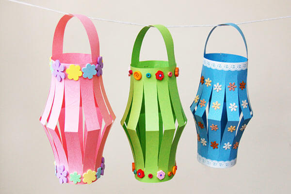 Paper lantern craft Spring Craft Ideas for Kids with Easy Tutorials