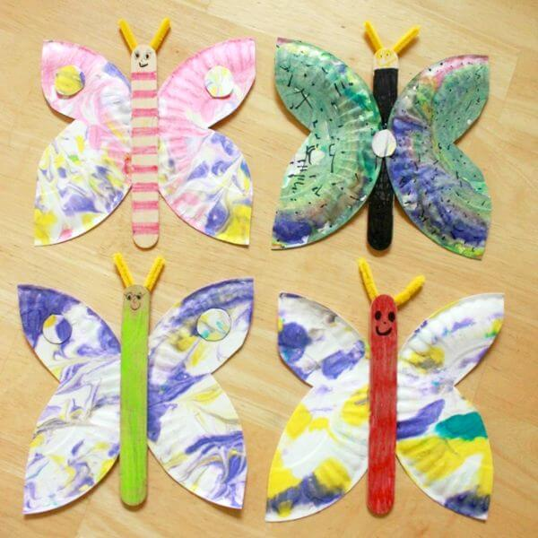 Beautiful Butterfly Crafts From Paper Plates