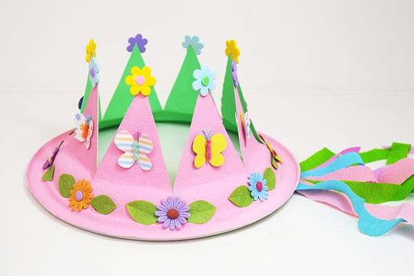 Paper plate crown inspiration Spring Craft Ideas for Kids with Easy Tutorials