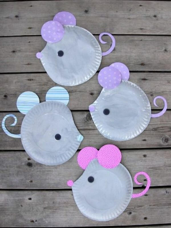 Mouse Paper Plate Craft Idea