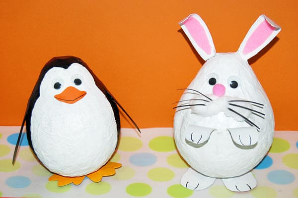 Easter eggs Spring Craft Ideas for Kids with Easy Tutorials