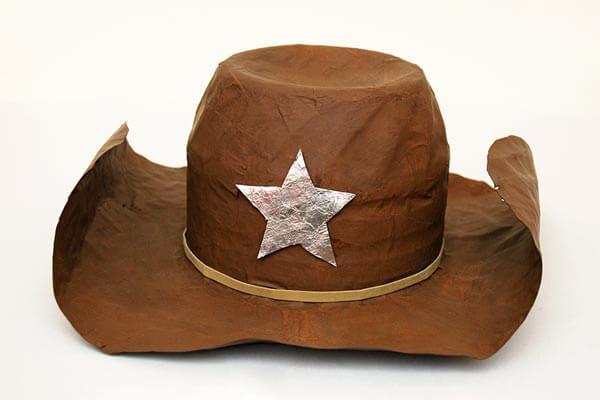 Paper Mache Cow Boy Hat For Kids