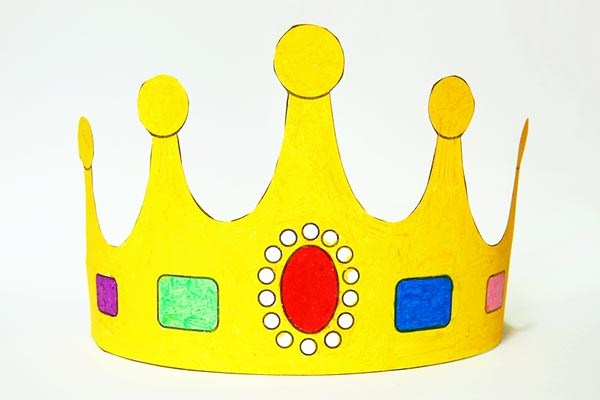 Paint it yourself Crown hat for toddlers