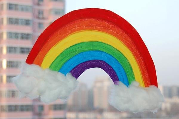 Rainbow Suncatcher craft idea