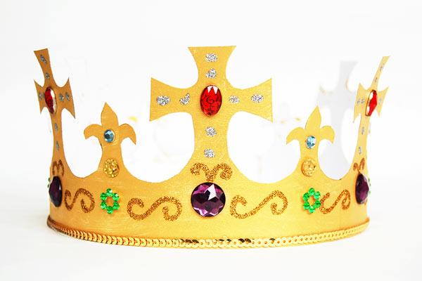 Embellished DIY crown for toddlers