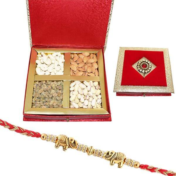 Rakhi with Dry Fruit Gift for Brother Raksha bandhan Rakhi Gifts for Brother
