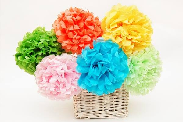 Spring craft activities using tissue