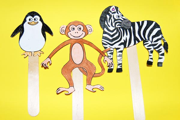 Easy Recycled Popsicle Animal Crafts
