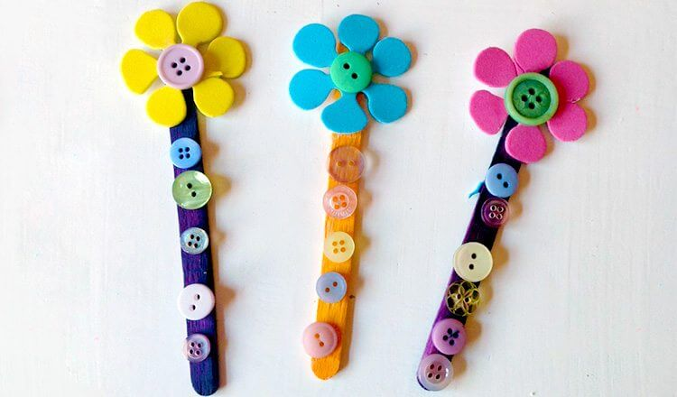 Beautiful popsicle crafts Mother's Day Craft Ideas for Kids