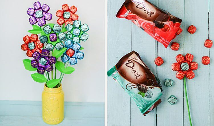 Toffee bouquet for mother's day Mother's Day Craft Ideas for Kids