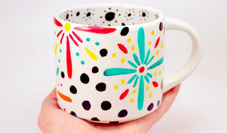 Self painted mug for Mother's Day Mother's Day Craft Ideas for Kids