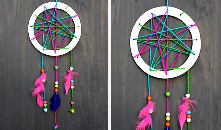 A beautiful dream catcher for Mother's Day Mother's Day Craft Ideas for Kids