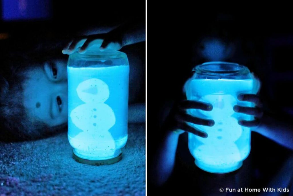 Glowing jar Christmas Crafts for kids Easy Christmas Craft Ideas for Kids