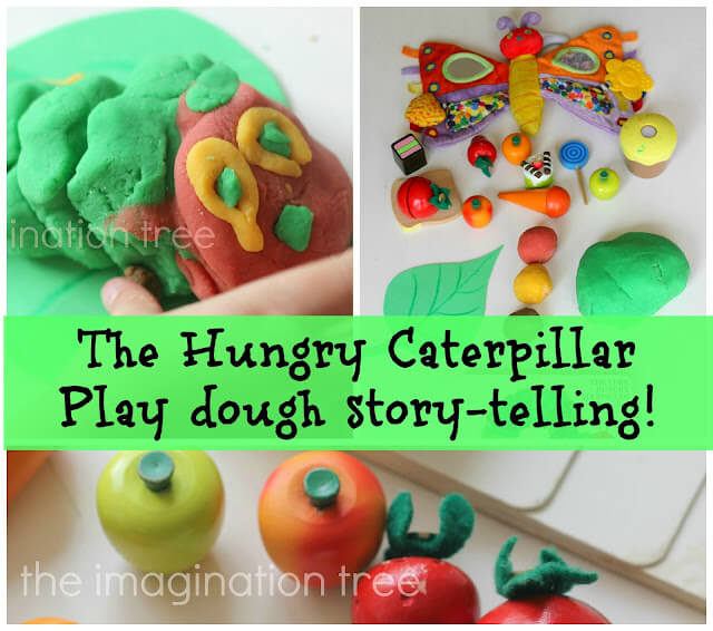 Caterpillar storytelling using play-dough Creative Ways of Storytelling with Crafts