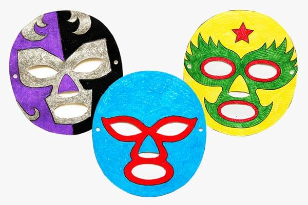 Fun crafty masks for birthday parties Birthday Party Craft Ideas