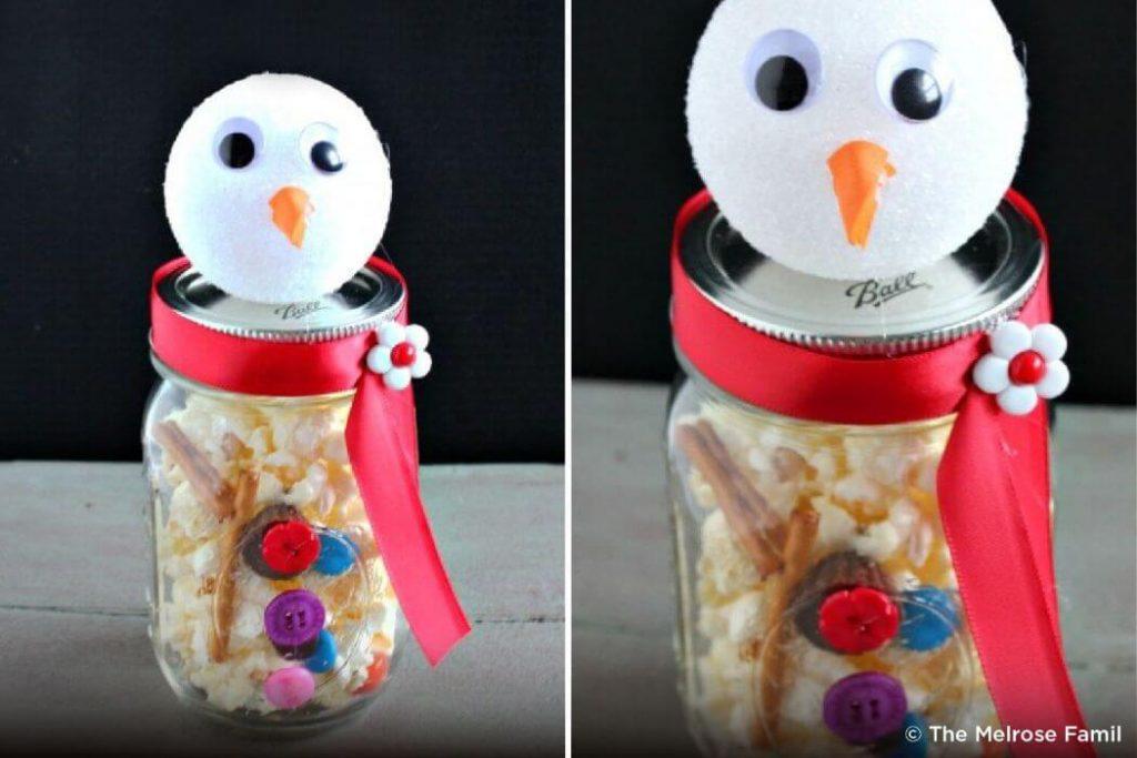 Old jar Snow man Christmas craft ideas for Kids Easy Christmas Craft Ideas for Kids
