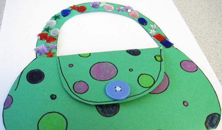 DIY purse for Mother's Day Mother's Day Craft Ideas for Kids