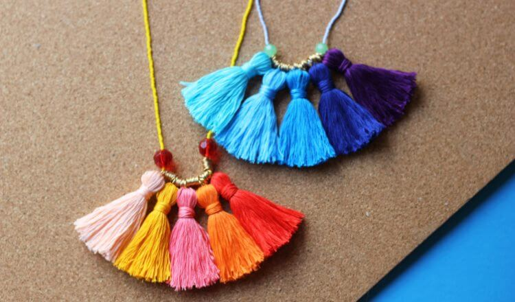 Beautiful Tassel necklace Mother's Day Craft Ideas for Kids Mother's Day Craft Ideas for Kids