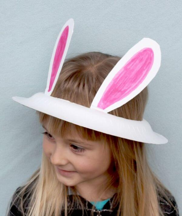Paper Plate Bunny Ears - paper plate animal crafts for kids - toddlers & preschoolers