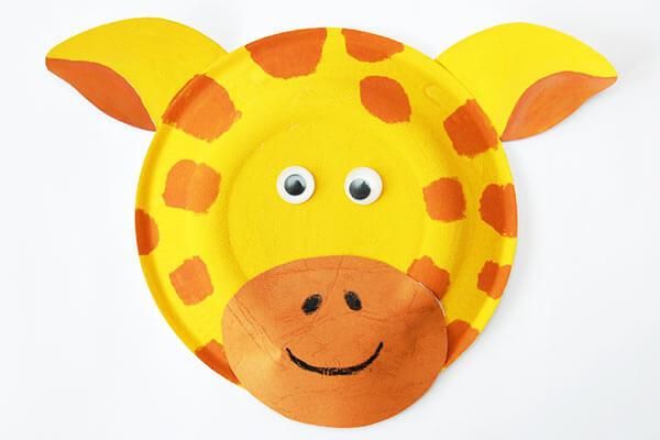 Giraffe Paper Plate Masks