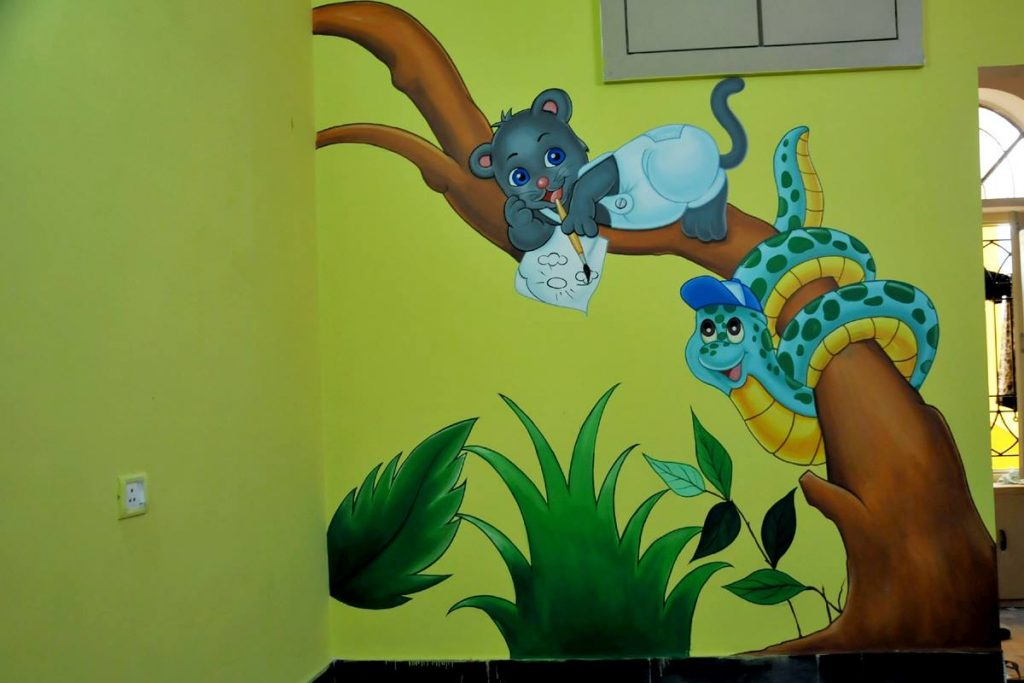 Story inspired wall paintings