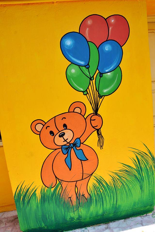 Play School Wall Paintings To Decorate Walls K4 Craft