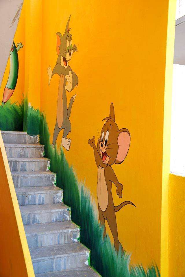 Tom & Jerry wall paintings