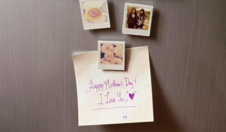 Beautiful pictures with personal notes for Mother's Day Mother's Day Craft Ideas for Kids