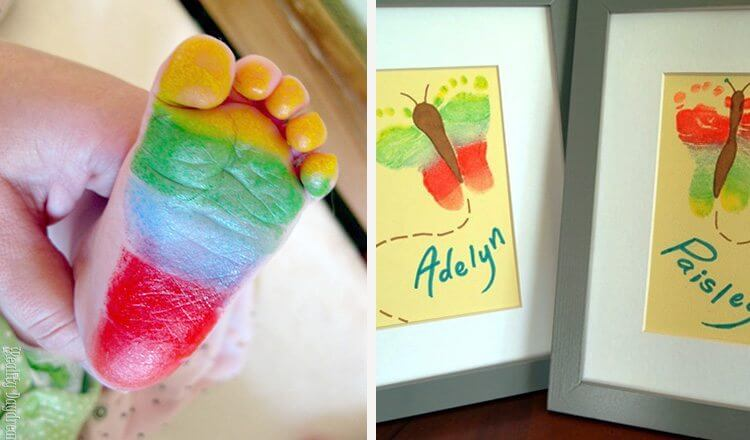 Foot printing crafts for Mother's day for toddlers Mother's Day Craft Ideas for Kids