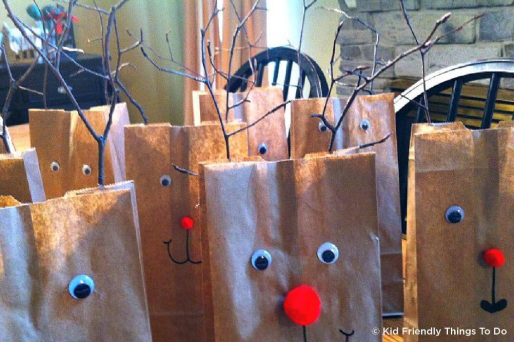 Paper bag Christmas Crafts for kids Easy Christmas Craft Ideas for Kids