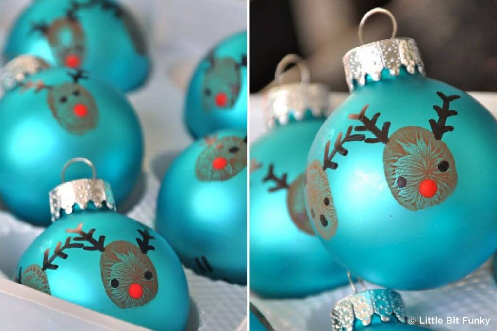 Christmas tree ball crafts Easy Christmas Craft Ideas for Kids