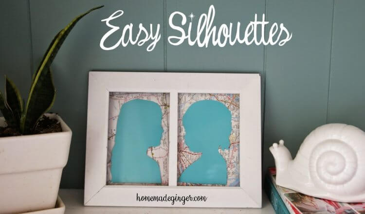 Beautiful Mother child Silhouettes Mother's Day Craft Ideas for Kids Mother's Day Craft Ideas for Kids